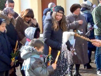 Освячення води та свічок на Стрітення ВІДЕО