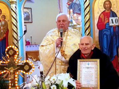 Привітання ювіляра п.Івана Огара з 90 – річчям.