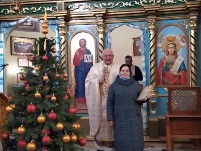 Вітальна грамота для Оксани Давидів з ювілеєм від Митрополита Володимира.