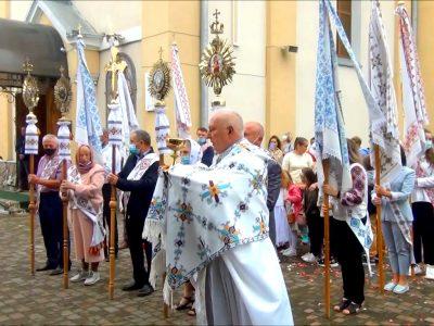 Свято Пресвятої Євхаристії 2021.Урочистий обхід навколо храму зі Святими Тайнами.